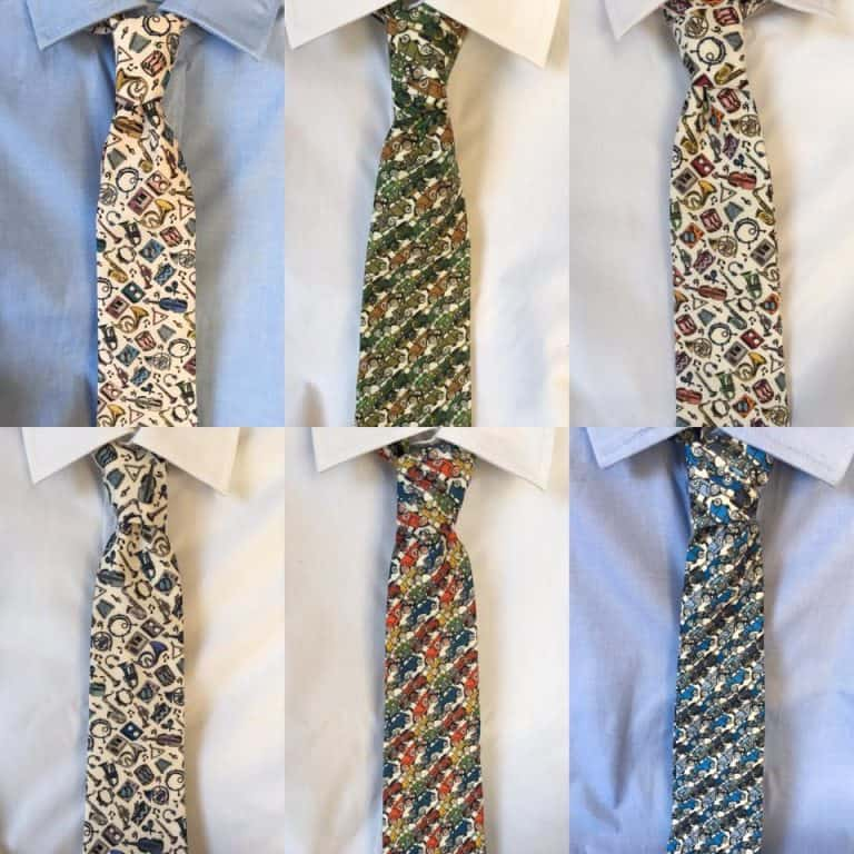 Six Ties on Shirts